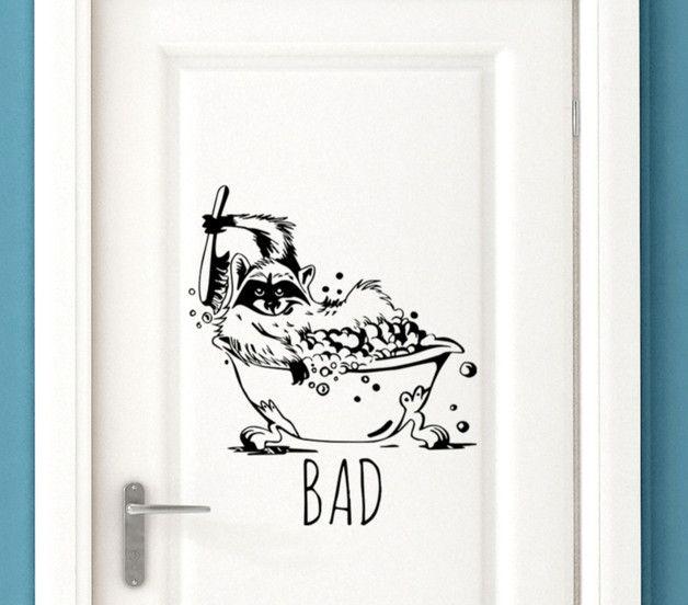 Wandtattoo Badaufkleber Turschild Waschbar Mit Schriftzug Bad M1783 100 Rauhfaser Tauglich Susser Badaufkleber Und Turaufklebe Aufkleber Turschilder Schilder