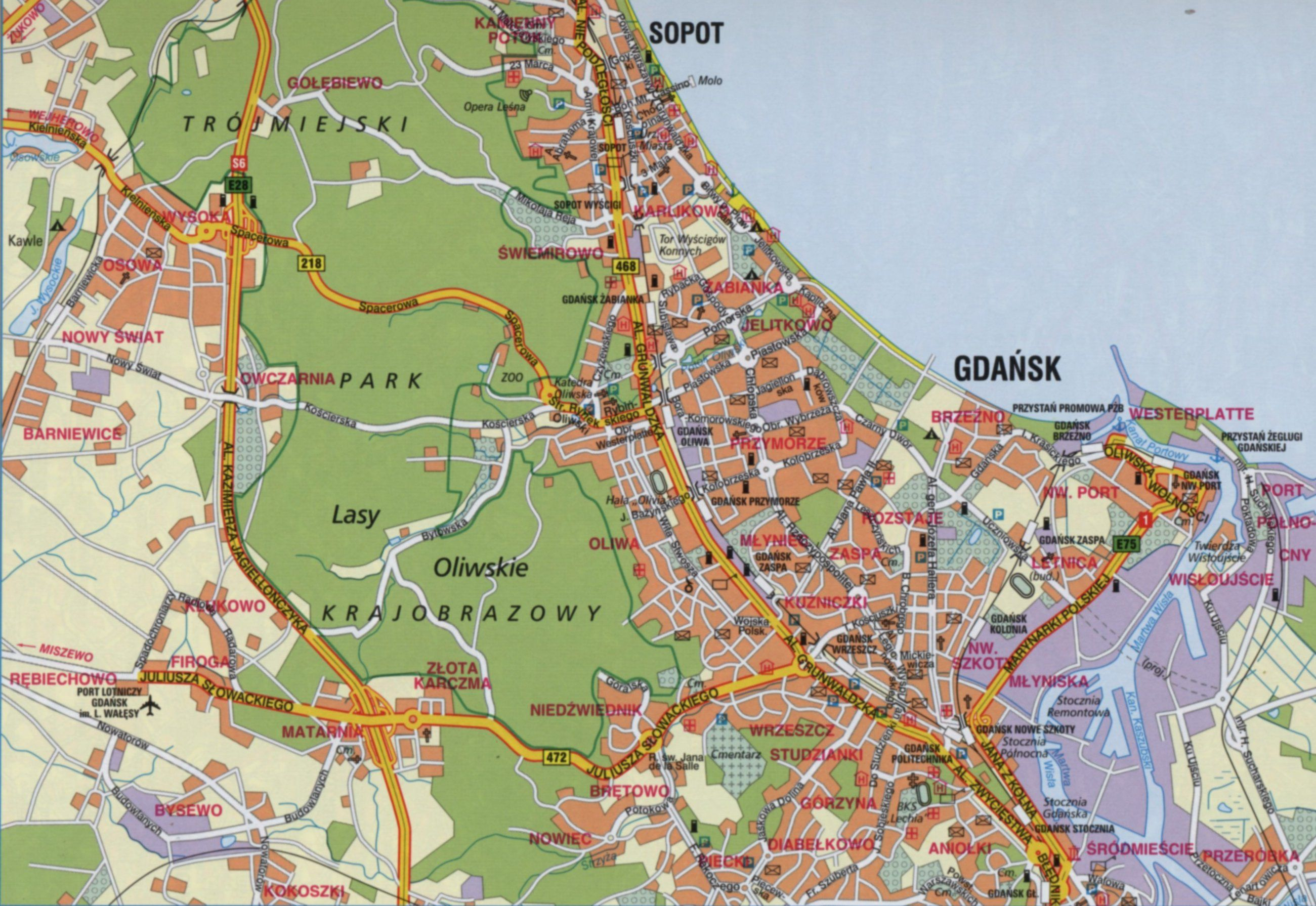 San Francisco Map Attractions Pdf%0A Map Of Gdansk