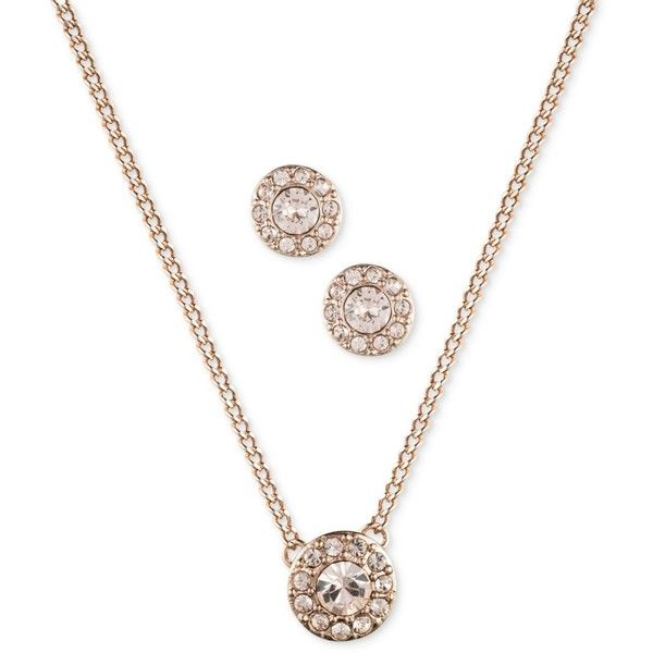 Givenchy RoseGold Tone Earring and Necklace Set 48 liked on