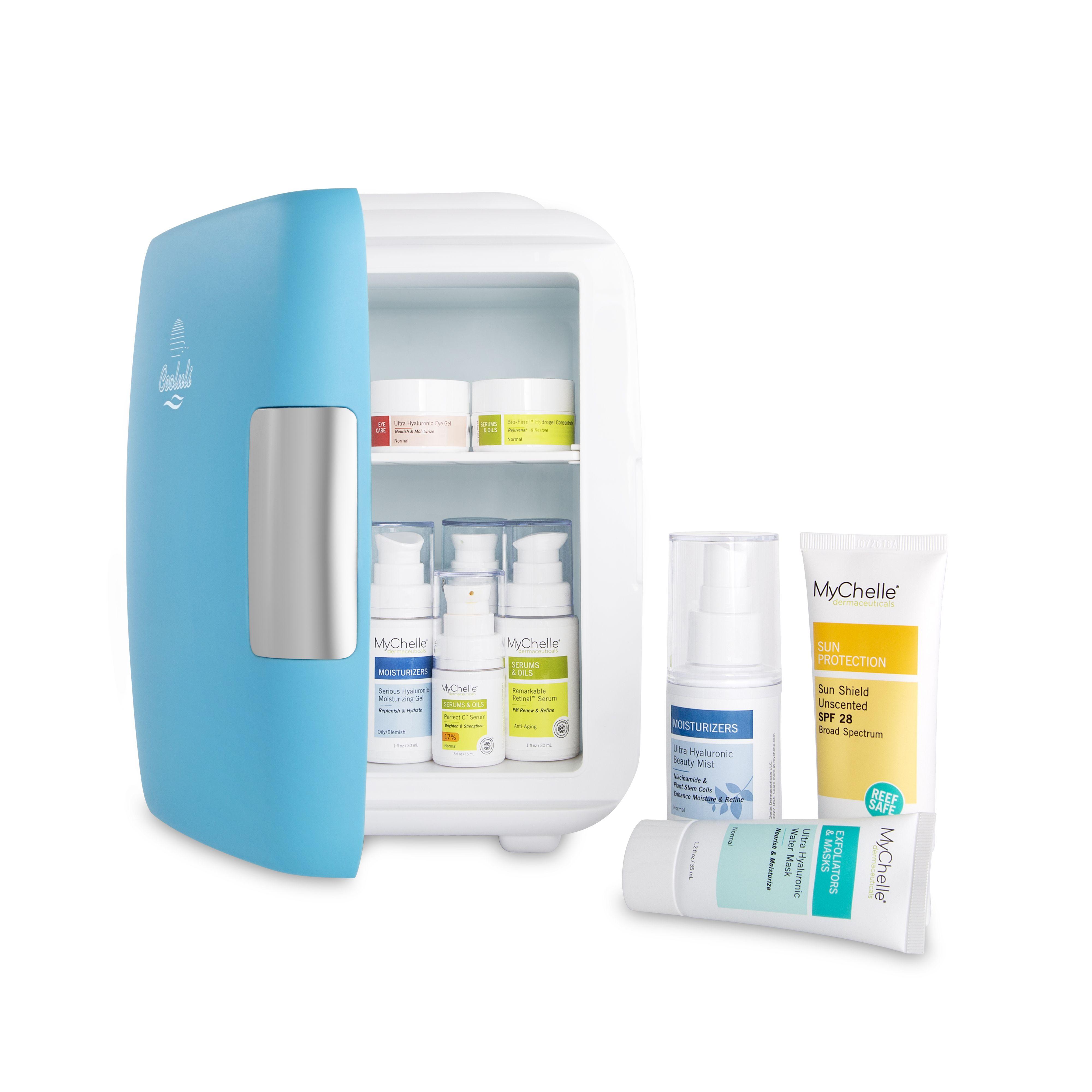 Cooluli mini skincare fridge skin care facial spray