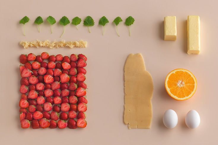 strawberry tartlet and its ingredients