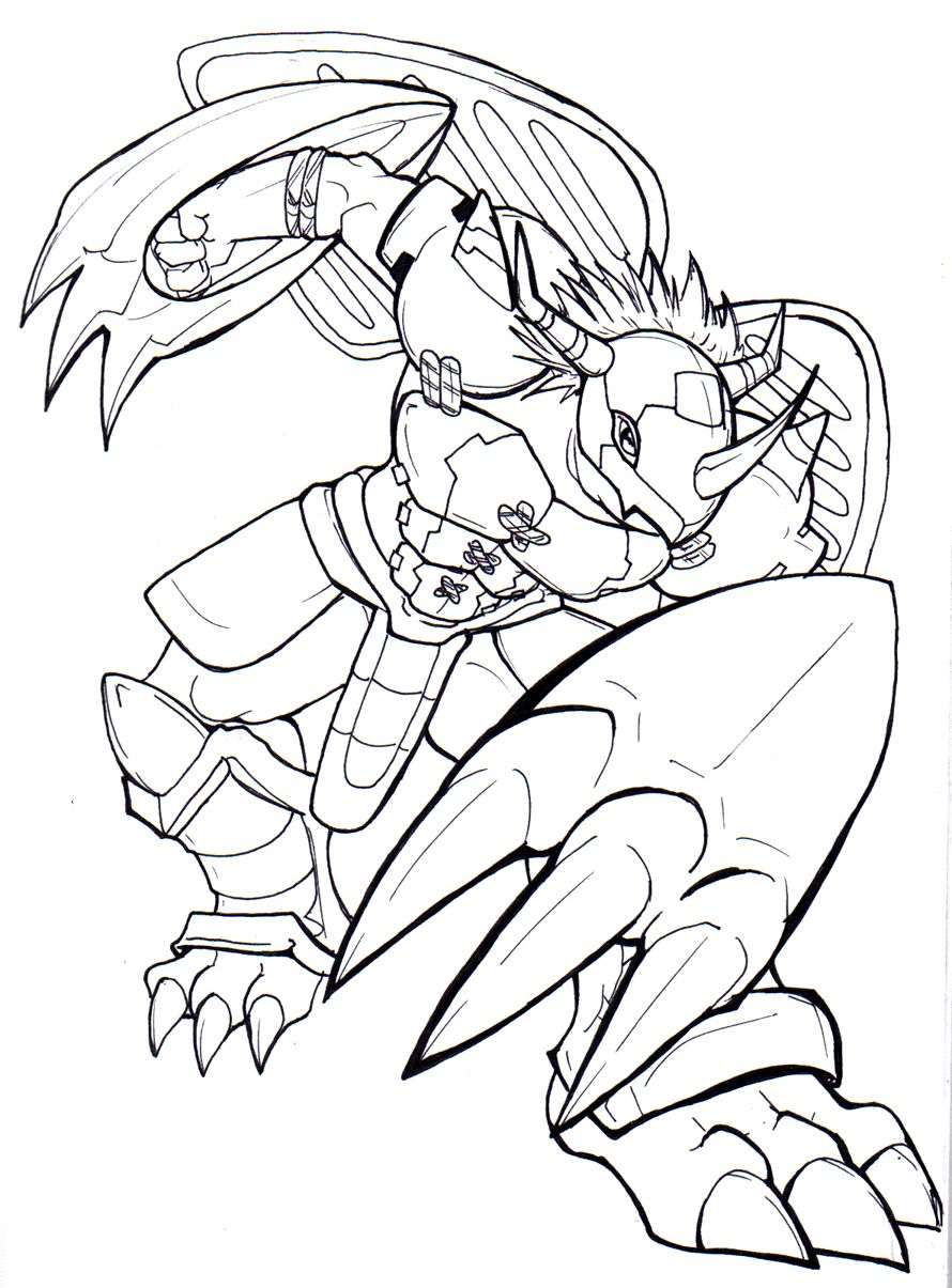 WarGreymon by chibigingi on DeviantArt | Minion coloring