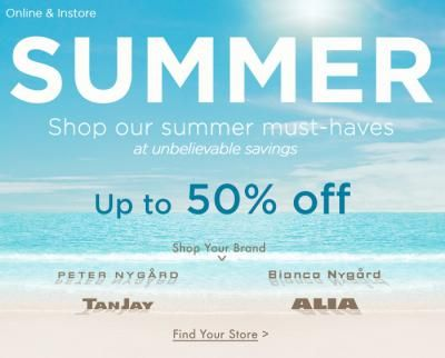 Nygard Summer Sale - Up To 50% Off