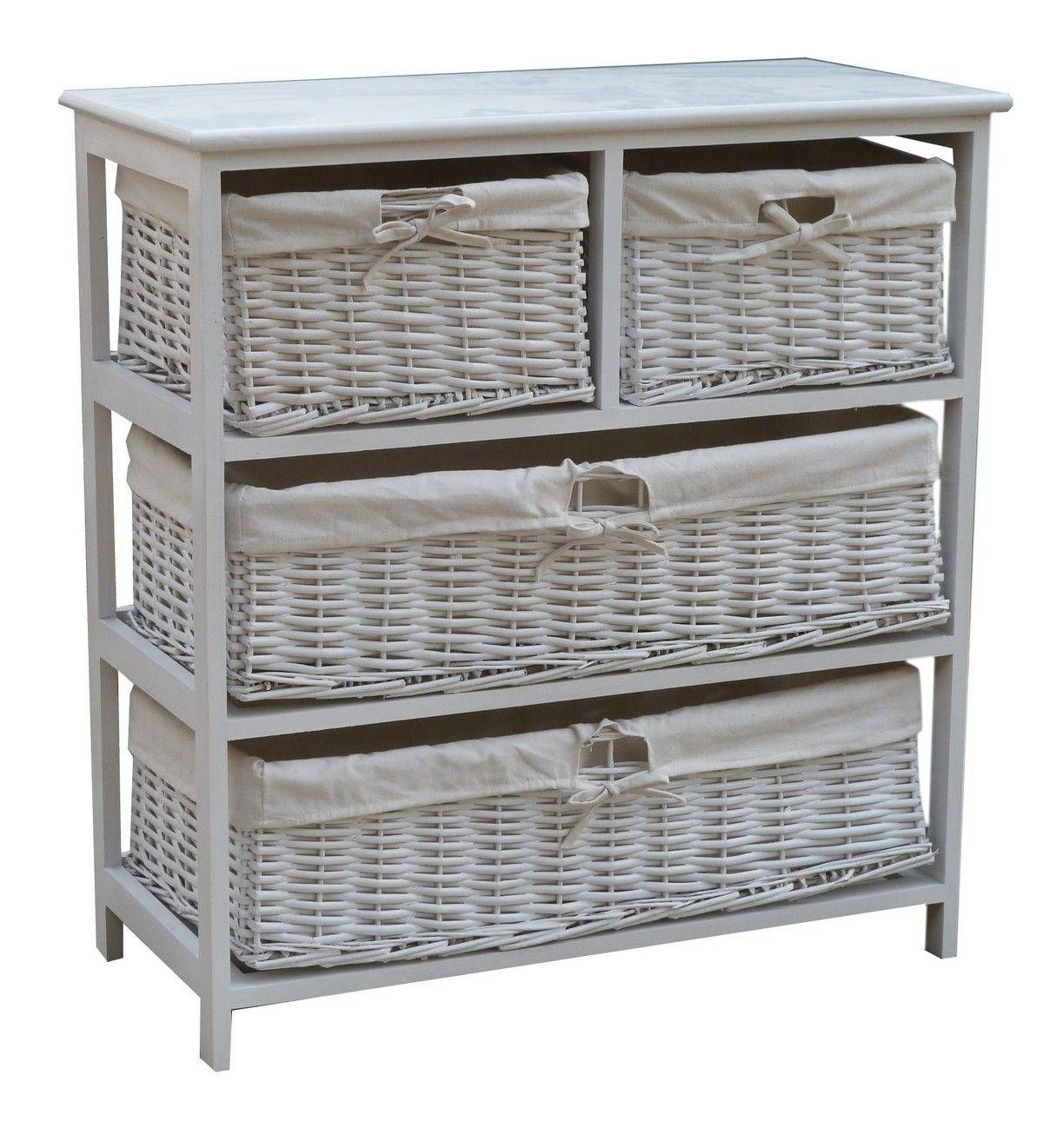 Wooden Storage Cabinet With Wicker Baskets Wooden Storage Cabinet White Storage Cabinets Wood Storage Cabinets