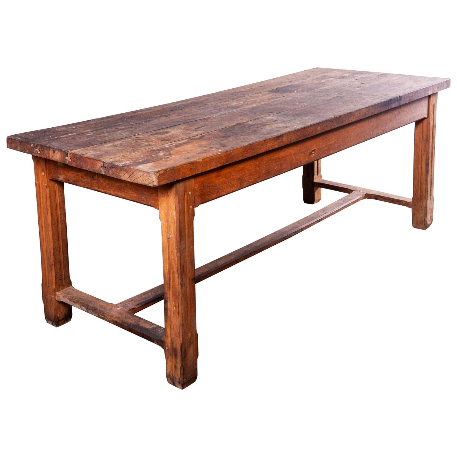 1940s French Farmhouse Rectangular Dining Table In Solid Beech Wood Rectangular Dining Table Dining Table French Farmhouse Dining Table