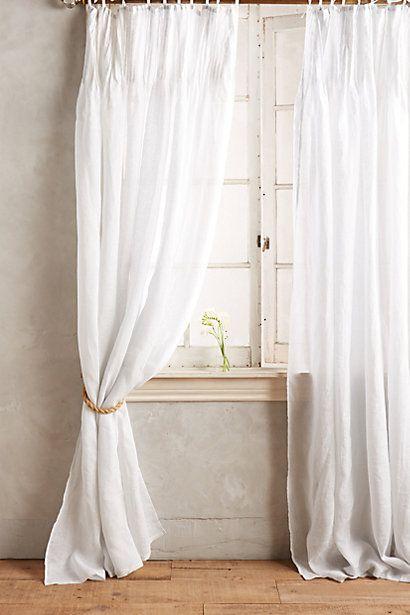 Pinch-Pleat Curtain #anthropologie