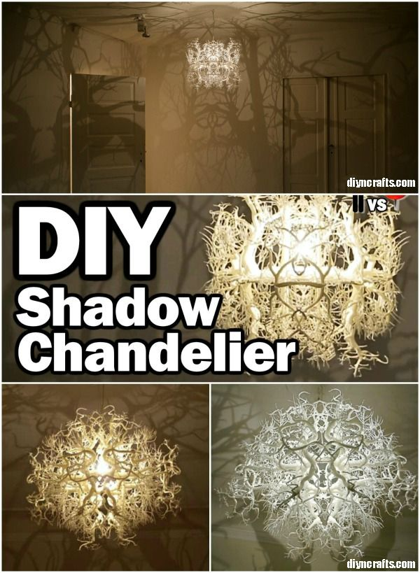 Amazing diy shadow chandelier inspired by nature diy chandelier imagine lying in bed looking up at the ceiling and feeling as if you are outside that is exactly what you can do with this amazing diy chandelier that aloadofball Choice Image