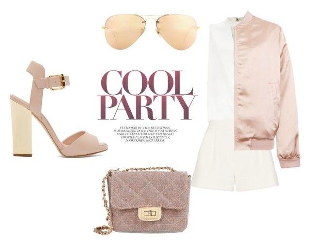 """pink bomber"" by bvrdari on Polyvore featuring мода, Miss Selfridge, 3.1 Phillip Lim, Cameo Rose, Giuseppe Zanotti, George J. Love, Ray-Ban, women's clothing, women и female"