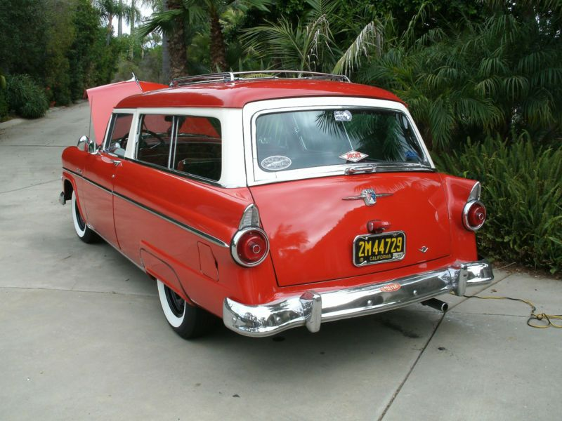 1955 Ford 2 Door Ranch Wagon No Reserve Ebay Wagon Ford Classic Cars Stick Shift