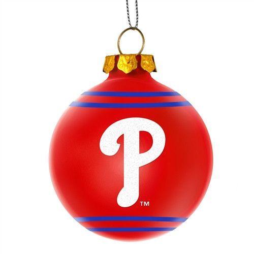 Philadelphia Phillies MLB 2014 Glitter Logo Glass Ball ...