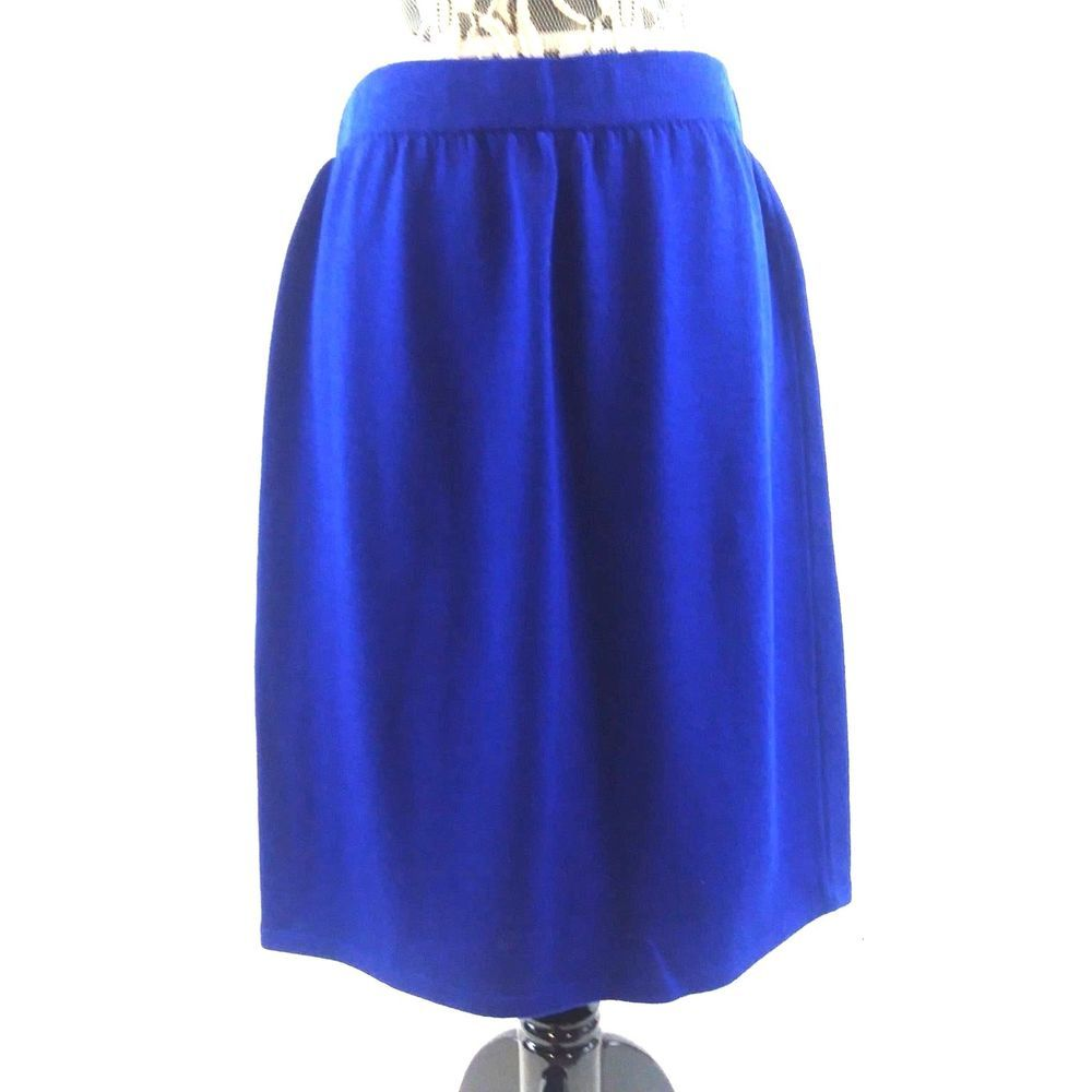 f75c991dd3 St John Collection Marie Gray SIZE 16 Bright Blue Pull On Knit Knee Length  Skirt