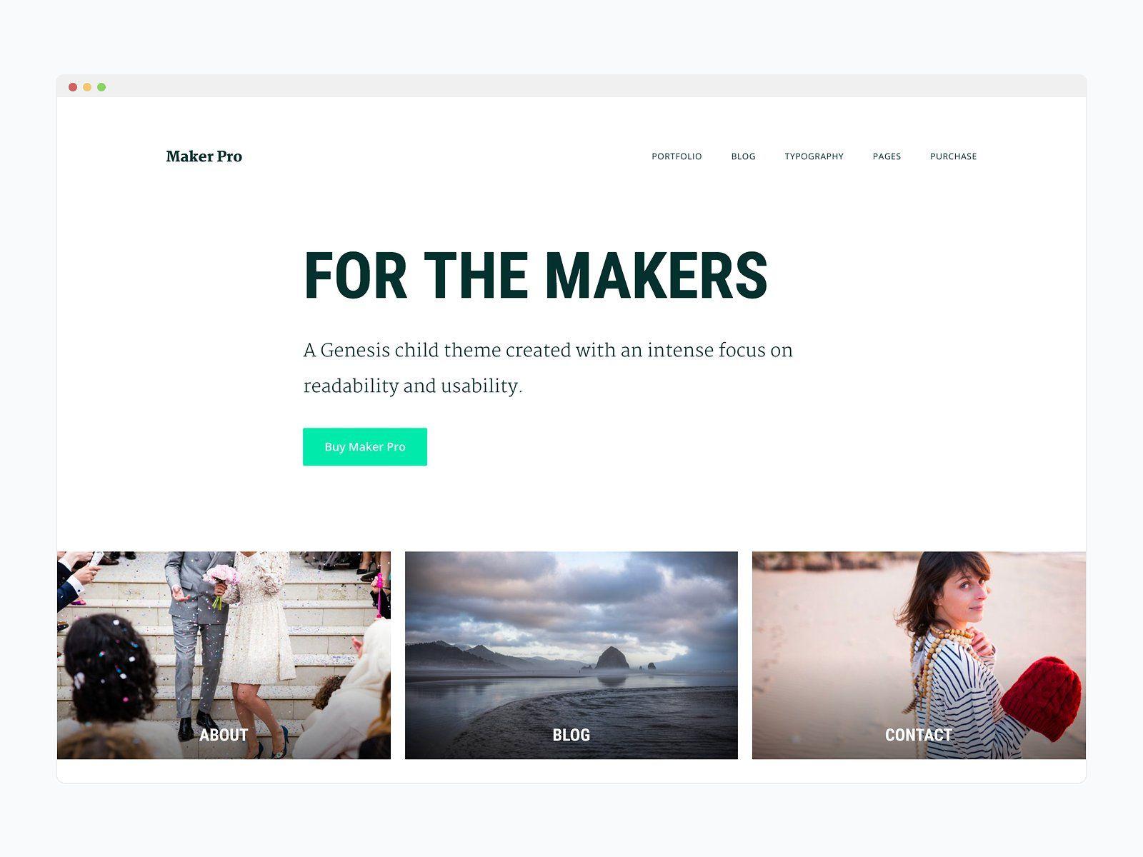 Best premium wordPress theme for bloggers - Maker Pro