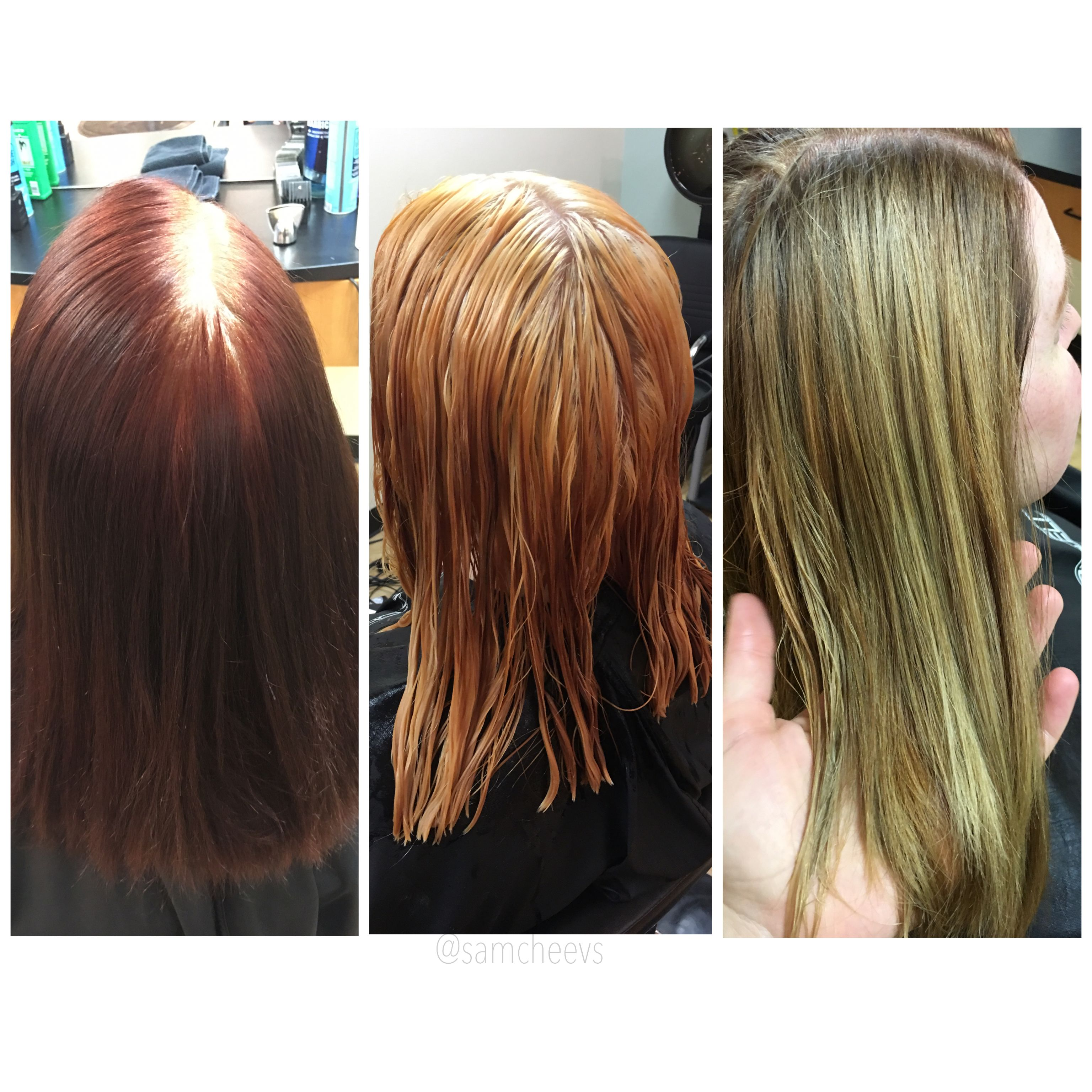 6 Hour Color Correction From Box Dye To Natural Blonde Before