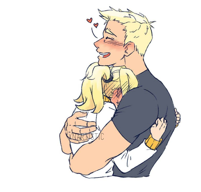 """d4374e0604de3 ynartistic  """"""""Mercy 76 Week  Day 1 - First Kiss """" Tried to draw this as  simple and cute as possible lol ~ """" Still perfectly adorable!"""