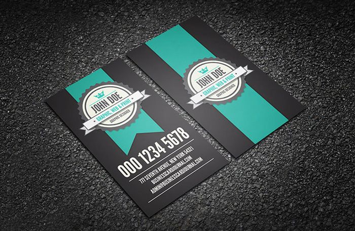 Cool Retro Business Card Template Business Cards Pinterest