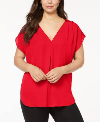 5686a72bc2a90b I.n.c. Plus Size Mixed-Media Dolman-Sleeve Top, Created for Macy's - Purple  0X