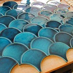 Handmade tiles by PLAKART ceramics.