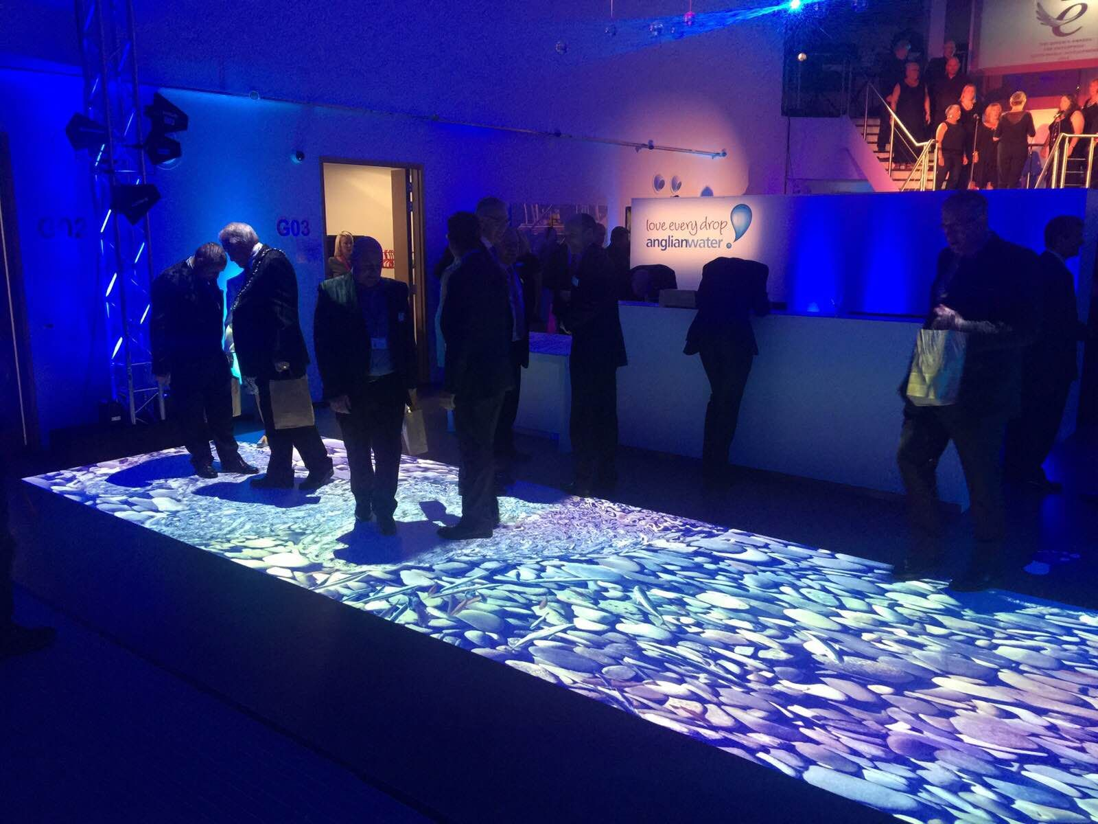 Another Look At Our Interactive Floor For Anglian Water