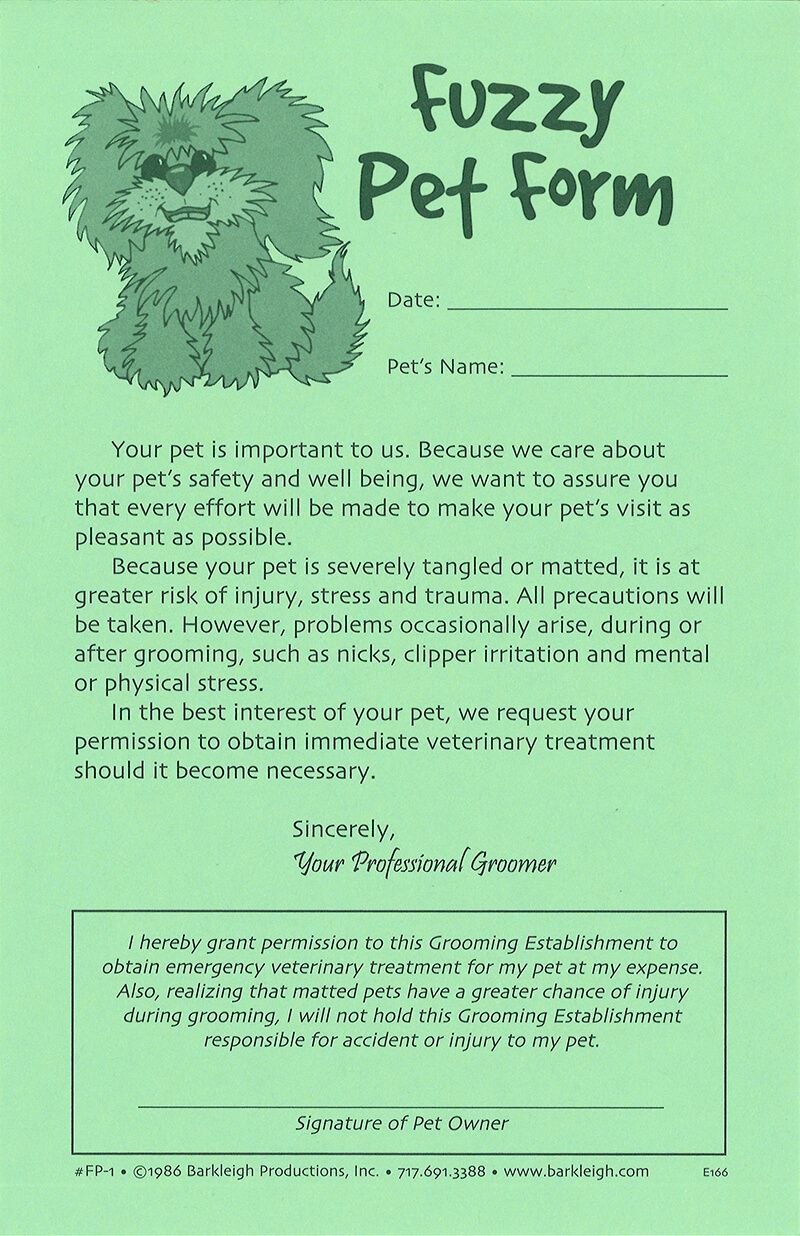 These Cartoony Pet Release Forms Convey A Little Light Humor For A