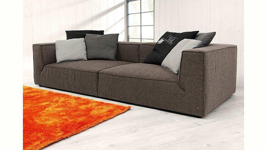 TOM TAILOR Big-Sofa »BIG CUBE«, wahlweise mit Sitztiefenverstellung - wohnzimmer orange beige