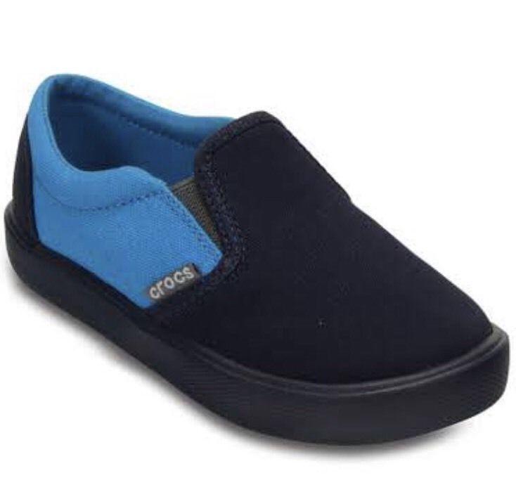 383cf1688add5b ⭐NEW⭐Crocs Kids  Citilane Slip-On Sneakers Navy Ocean Size  13 Child