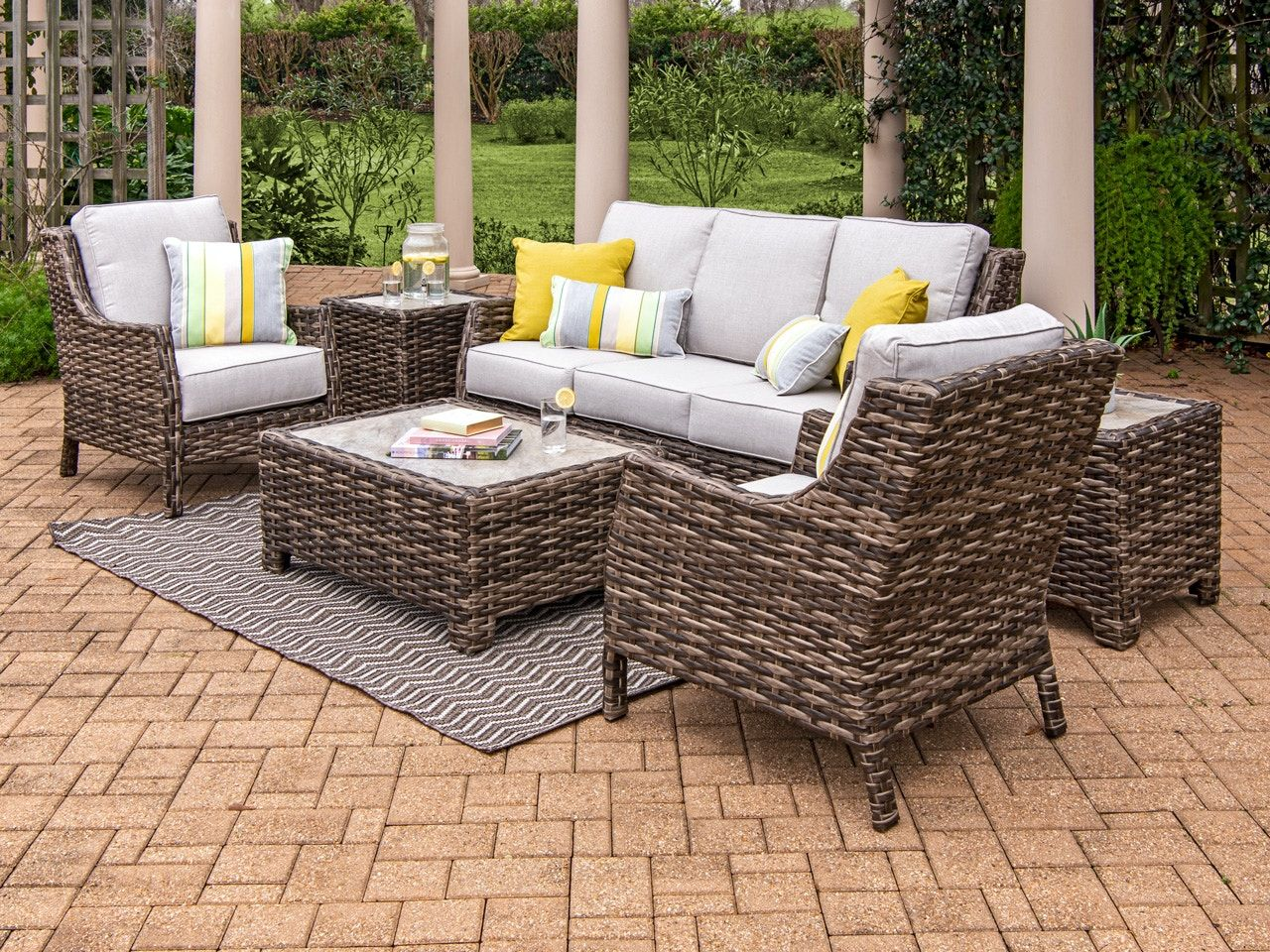 Chair King Backyard Store S Exclusive Cabo Collection Pairs Weather Tested Resin Wicker Handwoven Over A In 2020 Outdoor Wicker Outdoor Comfort Outdoor Furniture Sets