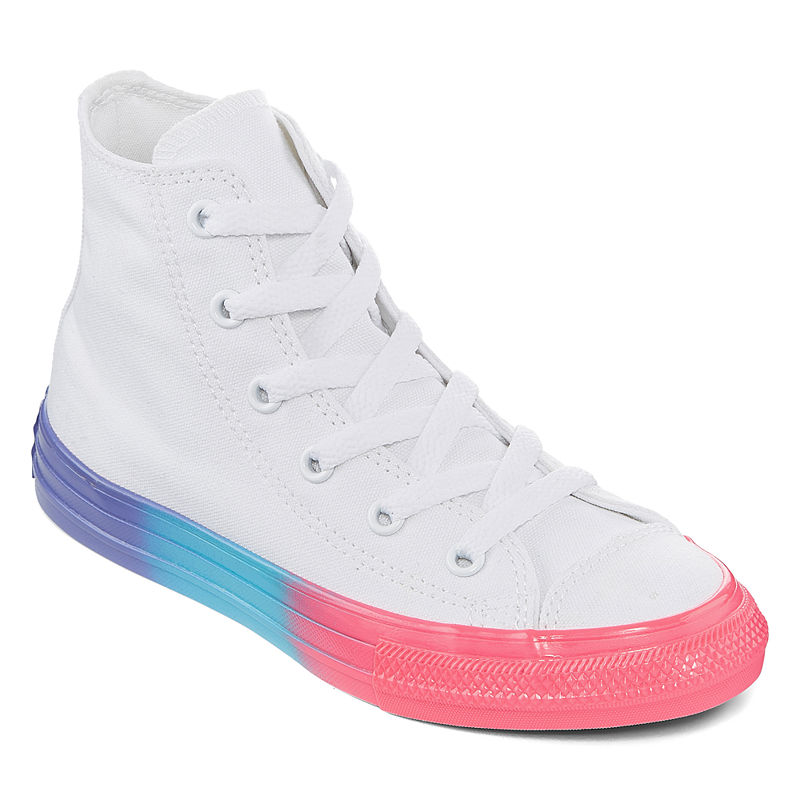 Converse Rainbow Ice LittleBig Kid Girls Lace up Sneakers