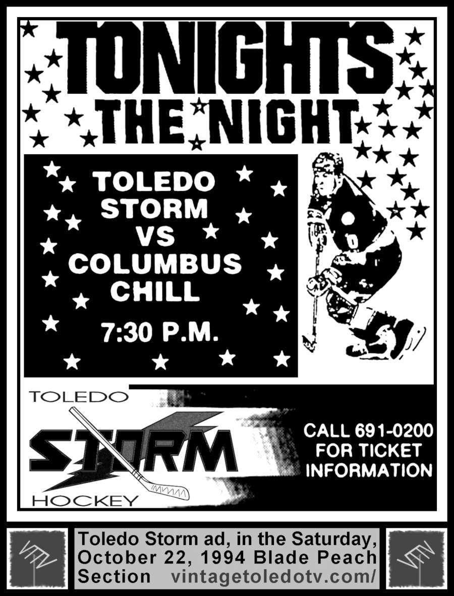 Vintage Toledo TV Other Vintage Print Ads Toledo Storm