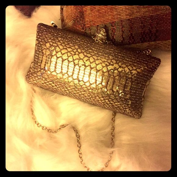 ⬇️ SALEGold Evening Clutch Excellent condition , not used .originally listed as $75. Bags Clutches & Wristlets