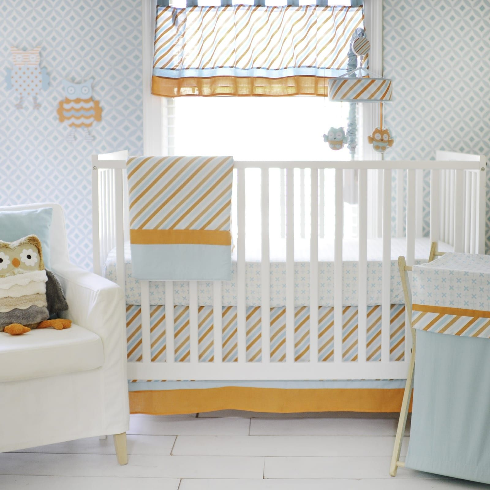 Penny Lane Baby Crib Bedding available at TinyTotties.com  Still my favorite, not too much on the owl .