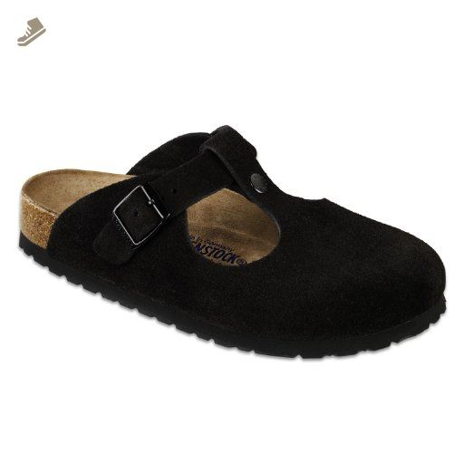 24a4164302635 Birkenstock Women's Bern Soft Footbed Clog,Black Suede,37 N EU ...