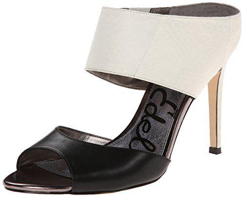 Sam Edelman Womens Scotti Dress Sandal BlackSnow White 85 M US *** Want  additional