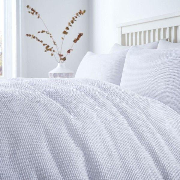 Linea White Waffle Duvet Cover Set Bed Linens Luxury Duvet Sets Duvet Cover Sets