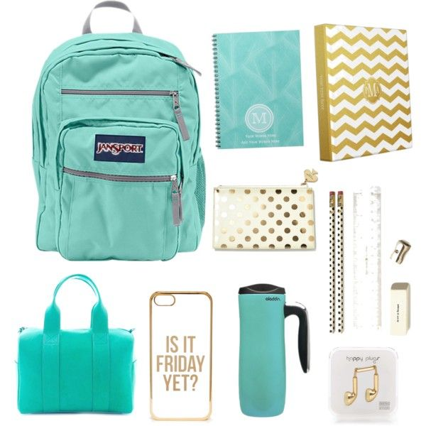 Back To School by bri606 on Polyvore featuring moda, JanSport, Betty and Betts, ASOS, Kate Spade, ALADDIN and Happy Plugs