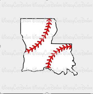 Louisiana Baseball SVG, DXF, EPS, PNG Digital File ...
