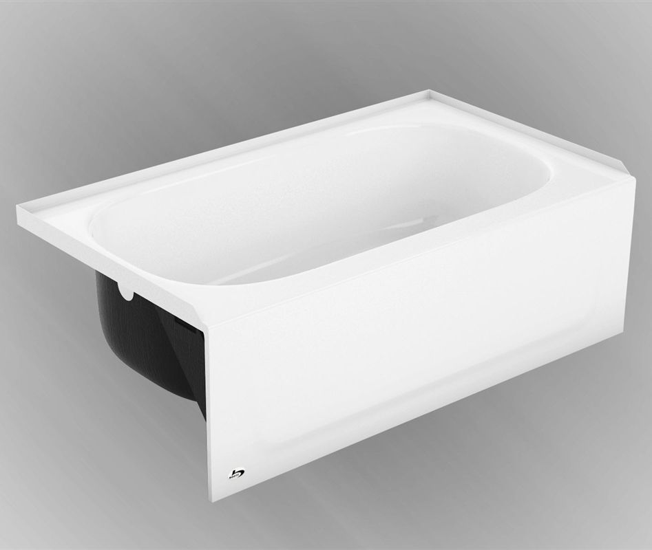 Syniron 1 compact bathtub with slip-resistant surface. Right or left ...