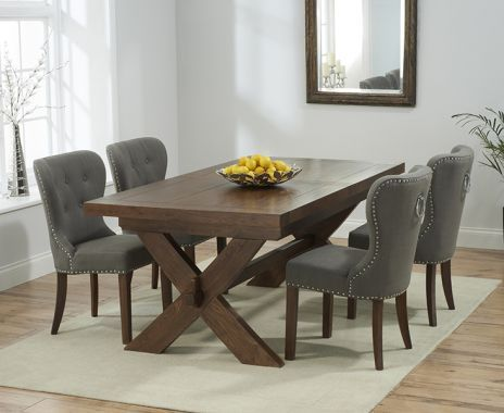 Beau Buy The Bordeaux Dark Solid Oak Extending Dining Table With Knightsbridge  Chairs At Oak Furniture Superstore
