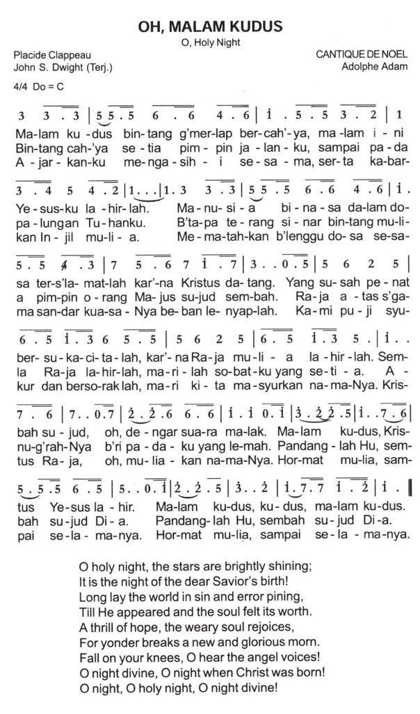 Oh Malam Kudus O Holy Night Partitur Not Angka O Holy Night Holy Night Oh Holy Night