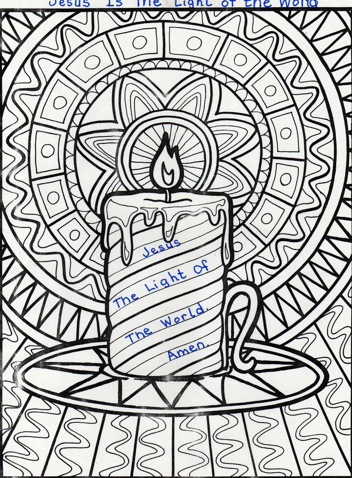 Elementary School Enrichment Activities Jesus Is The Light Coloring Page Christmas Coloring Pages Coloring Pages Doodle Coloring