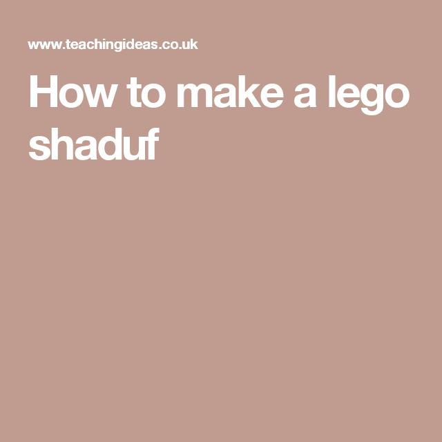 How to make a lego shaduf