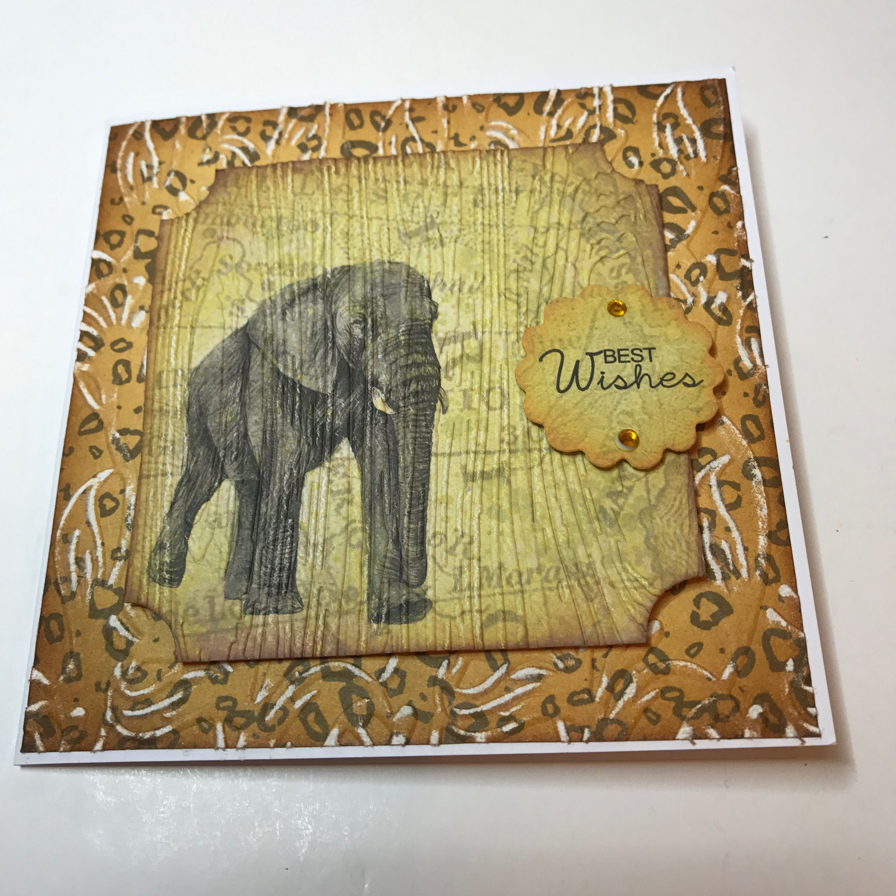 Made by samantha wade topper backing paper embossed
