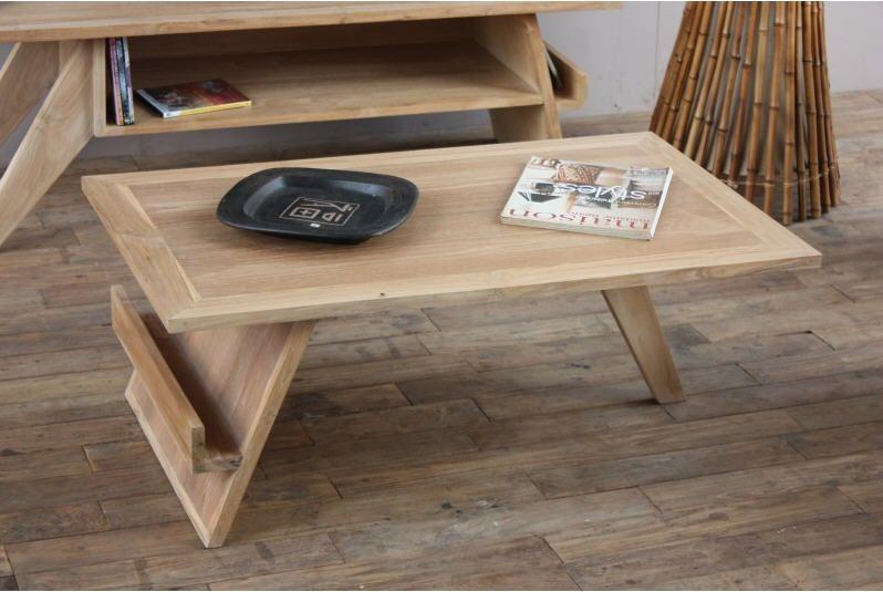 Table Basse Design Teck Massif Tektona Table Basse Miliboo