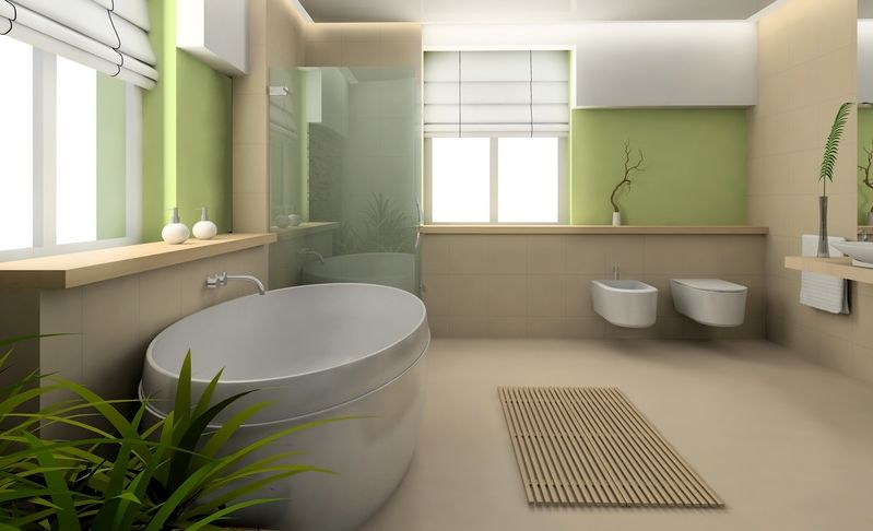 Salle De Bains Zen Jpg 799 486 Green Bathroom Bathroom Design Bathroom Color