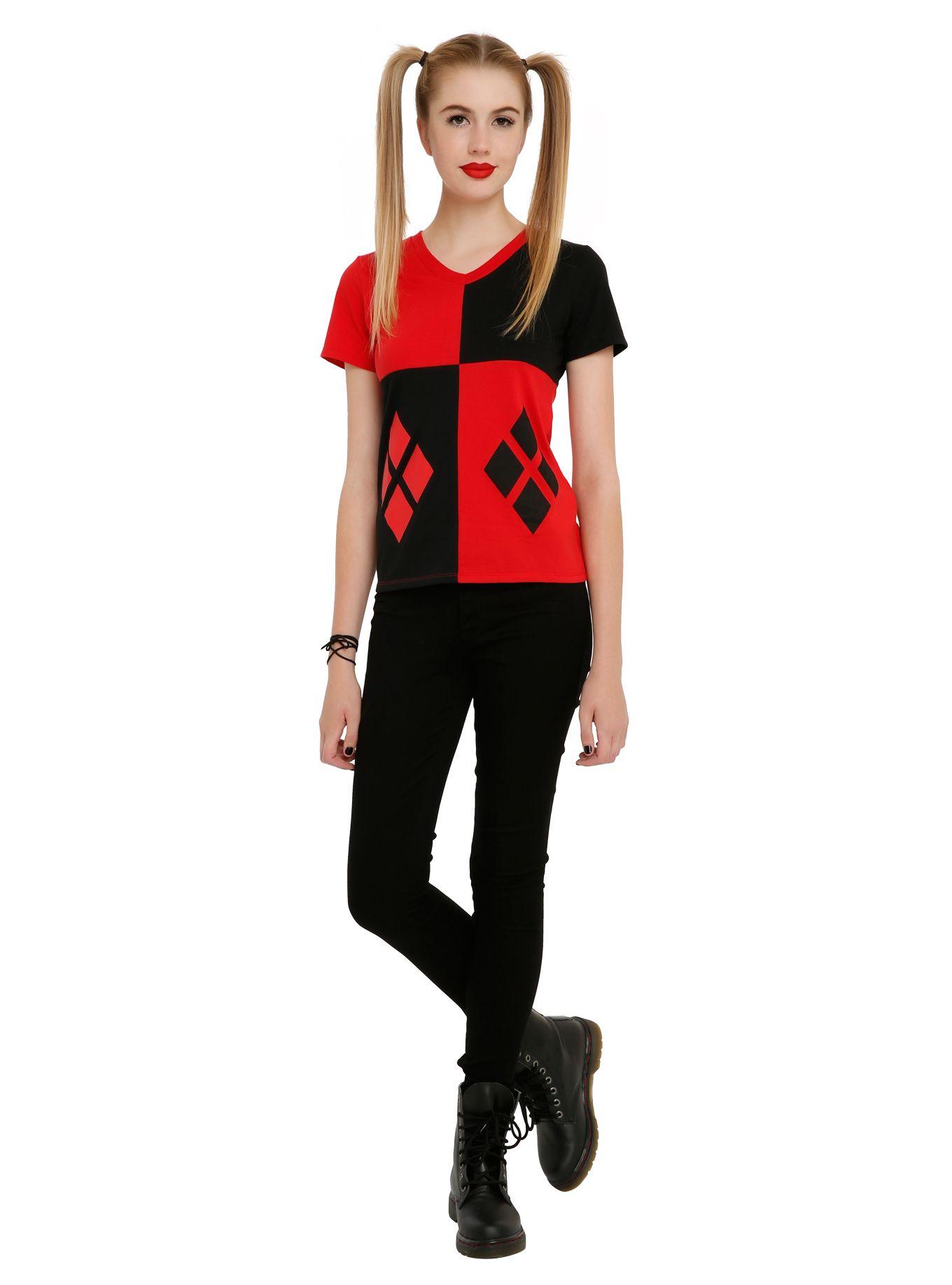 5979ba7e1c3a DC Comics Harley Quinn Girls Costume T-Shirt