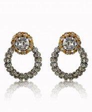 Francoise Montague Gold and Silver Medium Joyce Earrings