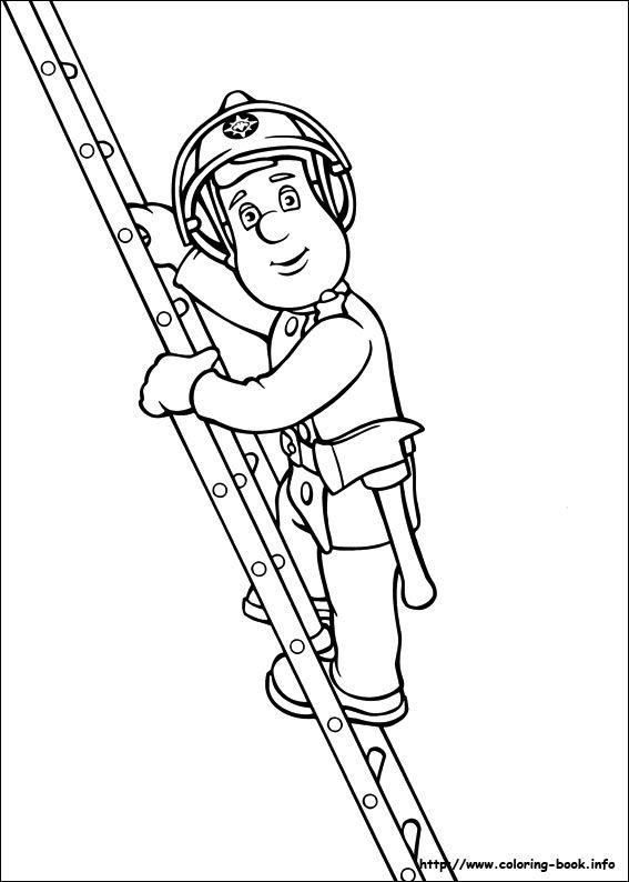 Fireman Sam coloring picture   Kinder: Coloring Sheets   Pinterest ...