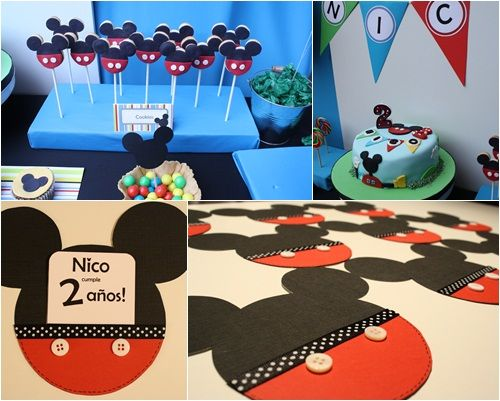 Mickey Mouse Decoraciones Para Fiestas ~ Decoraciones de Fiestas Infantiles de Mickey Mouse de Mickey Mouse
