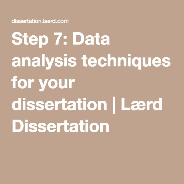 Data analysis methods dissertation