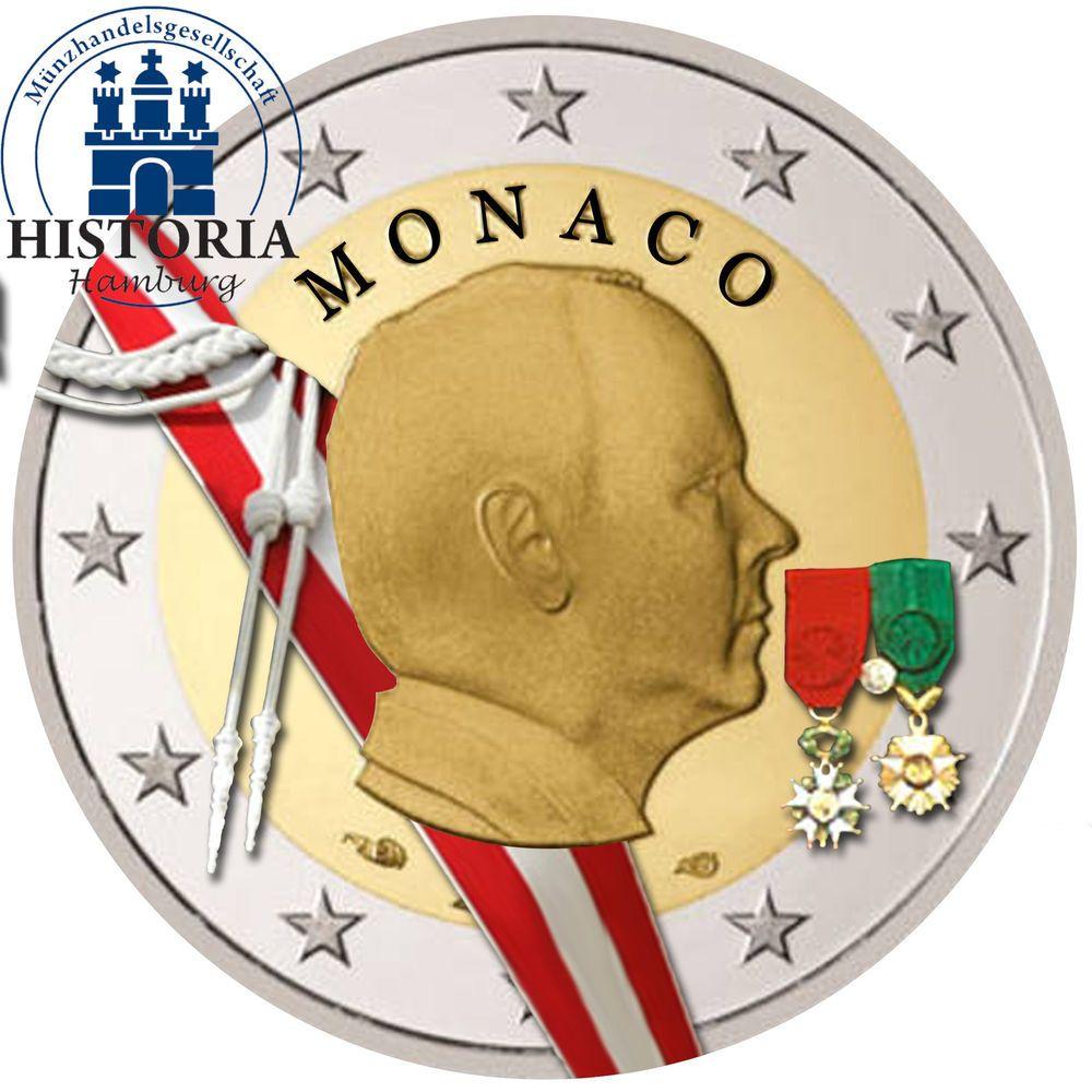 Details Zu Monaco 2 Euro 2009 Fürst Albert Ii Grimaldi Gedenkmünze