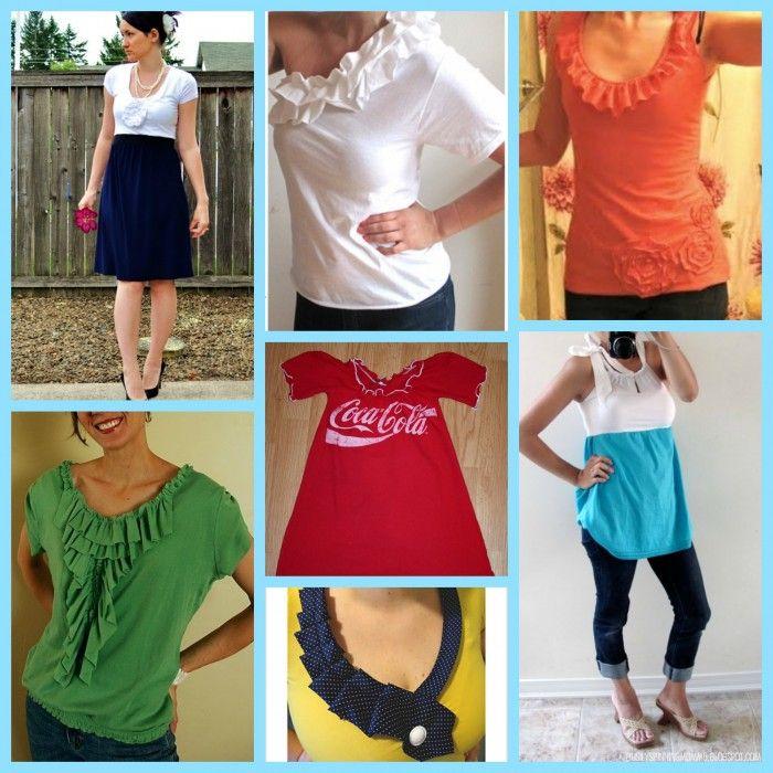 T Shirt Diy Tshirt Refashion Fashion